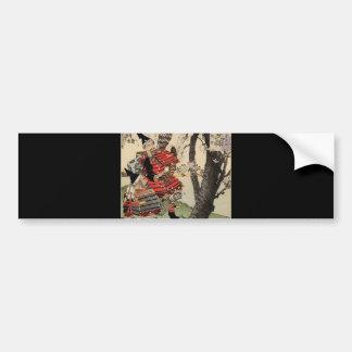1885年頃武士の観覧の桜 バンパーステッカー