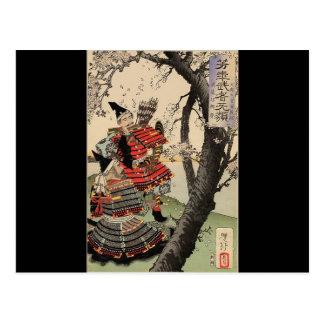 1885年頃武士の観覧の桜 ポストカード