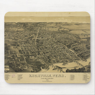 1886年からのKnoxvilleテネシー州の空中写真 マウスパッド