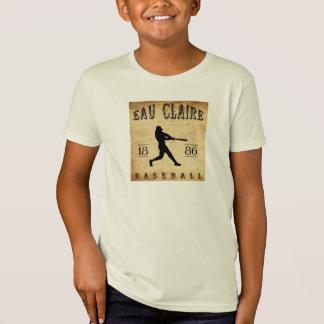 1886年のオー・クレアウィスコンシンの野球 Tシャツ
