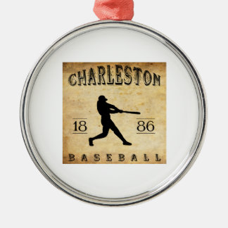 1886年のチャールストンサウスカロライナの野球 メタルオーナメント