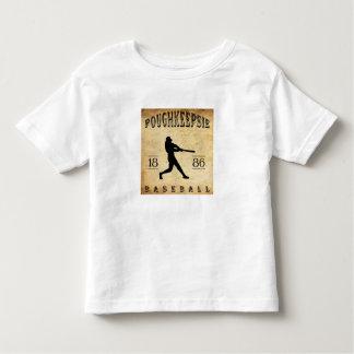 1886年のPoughkeepsieニューヨークの野球 トドラーTシャツ