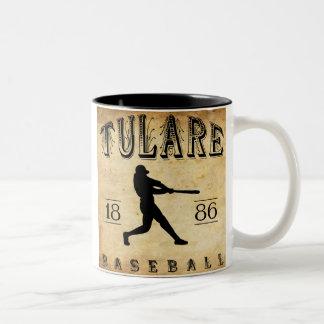 1886年のTulareカリフォルニアの野球 ツートーンマグカップ