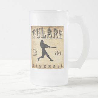 1886年のTulareカリフォルニアの野球 フロストグラスビールジョッキ