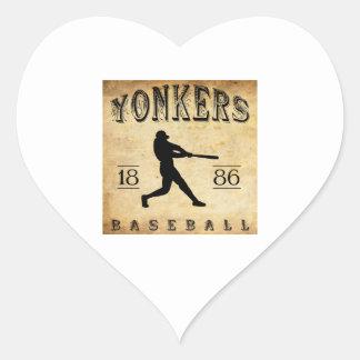1886年のYonkersニューヨークの野球 ハートシール
