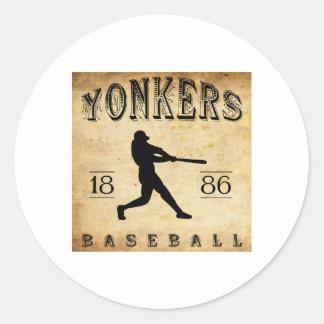 1886年のYonkersニューヨークの野球 ラウンドシール