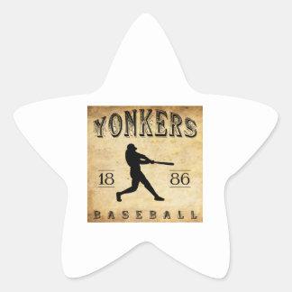 1886年のYonkersニューヨークの野球 星シール