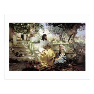 1886年頃マーサそしてマリアを持つキリスト ポストカード