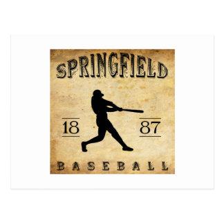 1887年のスプリングフィールドミズーリの野球 ポストカード