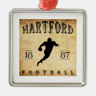 1887年のハートフォードコネチカットのフットボール メタルオーナメント
