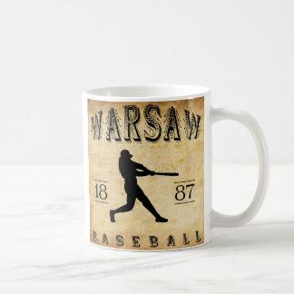 1887年のワルシャワニューヨークの野球 コーヒーマグカップ