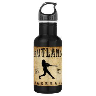 1887年のRutlandヴァーモントの野球 ウォーターボトル