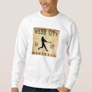 1887年のWebb都市ミズーリの野球 スウェットシャツ