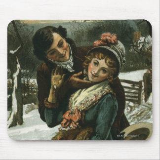 1887年: 人は内気な女性に接吻することを試みます マウスパッド