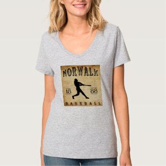 1888年のノーウォークコネチカットの野球 Tシャツ
