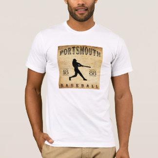 1888年のポーツマスニューハンプシャーの野球 Tシャツ
