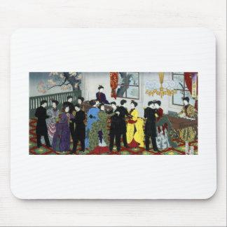 1888年頃東京の社交ダンス マウスパッド