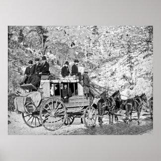 1889年に枯れ木の駅馬車 ポスター
