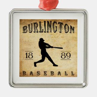 1889年のバーリントンアイオワの野球 メタルオーナメント