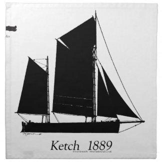 1889 solent ketch -贅沢なfernandes ナプキンクロス