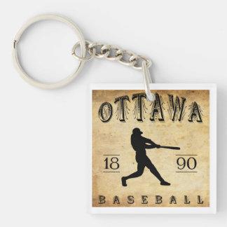 1890年のオタワイリノイの野球 キーホルダー