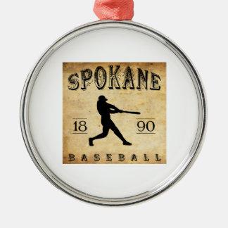 1890年のスポケーンワシントン州の野球 メタルオーナメント