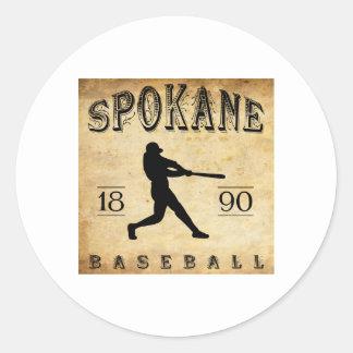 1890年のスポケーンワシントン州の野球 ラウンドシール