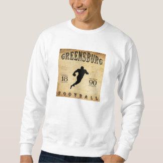 1890年のGreensburgペンシルバニアのフットボール スウェットシャツ