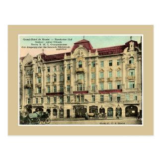 1890年代のヴィンテージのベルリンの壮大なホテルロシア ポストカード