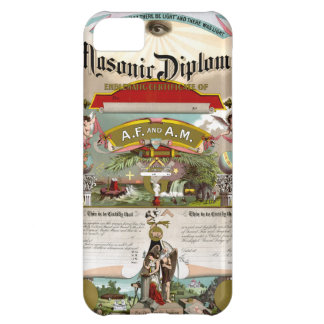 1890年頃フリーメーソンの免状 iPhone5Cケース
