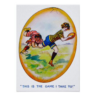 1890's Women's Rugby - Archival Print ポスター