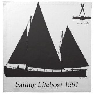 1891年の航海の救命ボート-贅沢なfernandes ナプキンクロス