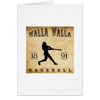 1891年のWalla Wallaワシントン州の野球 カード