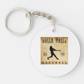 1891年のWalla Wallaワシントン州の野球 キーホルダー