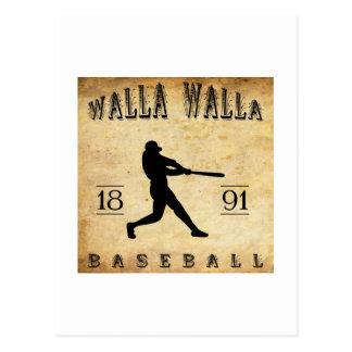 1891年のWalla Wallaワシントン州の野球 ポストカード