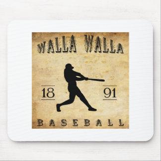 1891年のWalla Wallaワシントン州の野球 マウスパッド