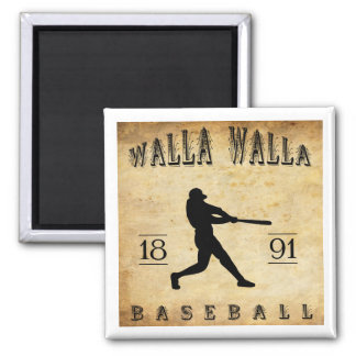 1891年のWalla Wallaワシントン州の野球 マグネット
