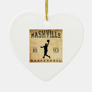 1893年のナッシュビルテネシー州のバスケットボール セラミックオーナメント