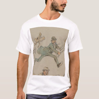 """1894の穿孔器の雑誌からの""""擬似ニュース"""" Tシャツ"""