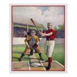 1895年にホームベースの野球 ポスター