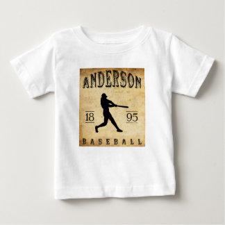 1895年のアンダーソンインディアナの野球 ベビーTシャツ