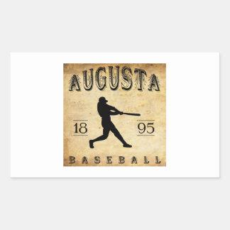 1895年のオーガスタメインの野球 長方形シール