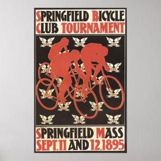 1895年のスプリングフィールドマサチューセッツの自転車のトーナメント ポスター