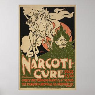 1895年のNarcoti治療はタバコの習慣を治します ポスター