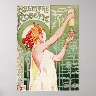 1896年のアブサンRobette ポスター