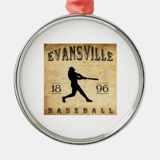 1896年のエバンズビルウィスコンシンの野球 メタルオーナメント