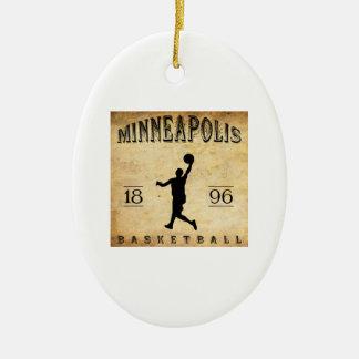 1896年のミネアポリスミネソタのバスケットボール セラミックオーナメント