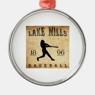 1896年の湖はウィスコンシンの野球を製粉します メタルオーナメント