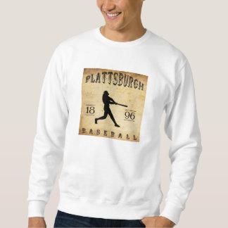 1896年のPlattsburghニューヨークの野球 スウェットシャツ