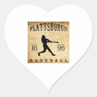 1896年のPlattsburghニューヨークの野球 ハートシール